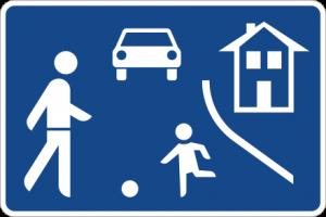 Verkehrszeichen 325.1 Verkehrsberuhigter Bereich